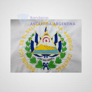 Bandera De Ceremonia De El Salvador. Calidad Premium